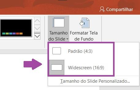 Como alterar o tamanho dos slides no PowerPoint