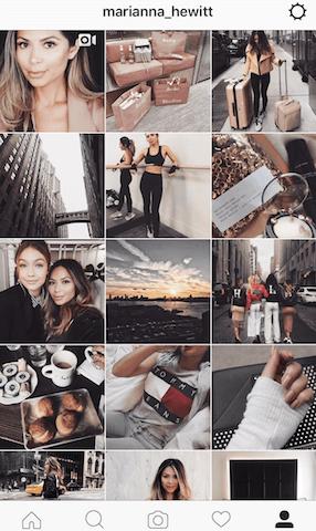 Feed Profissional e Atrativo no Instagram - Marianna Hewitt
