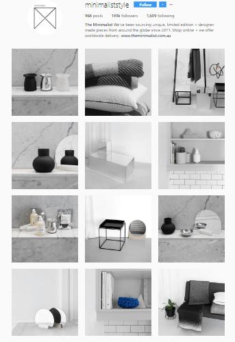 Feed Profissional e Atrativo no Instagram - minimaliststyle